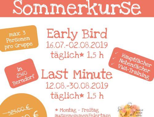Sommerkurse 2019 Dodos Denkwerstatt Berndorf Triestingtal Niederösterreich