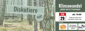 Diskussionsrunde: Klimawandel - global und im Triestingtal @ Volksheim Berndorf
