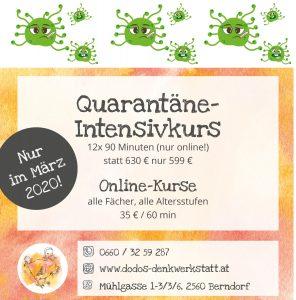 Coronavirus: Dodos Denkwerkstatt veranstaltet Online-Kurse