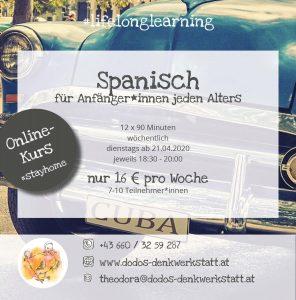 Dodos Denkwerkstatt: Spanischkurs für Anfänger*innen ab 21.04.2020