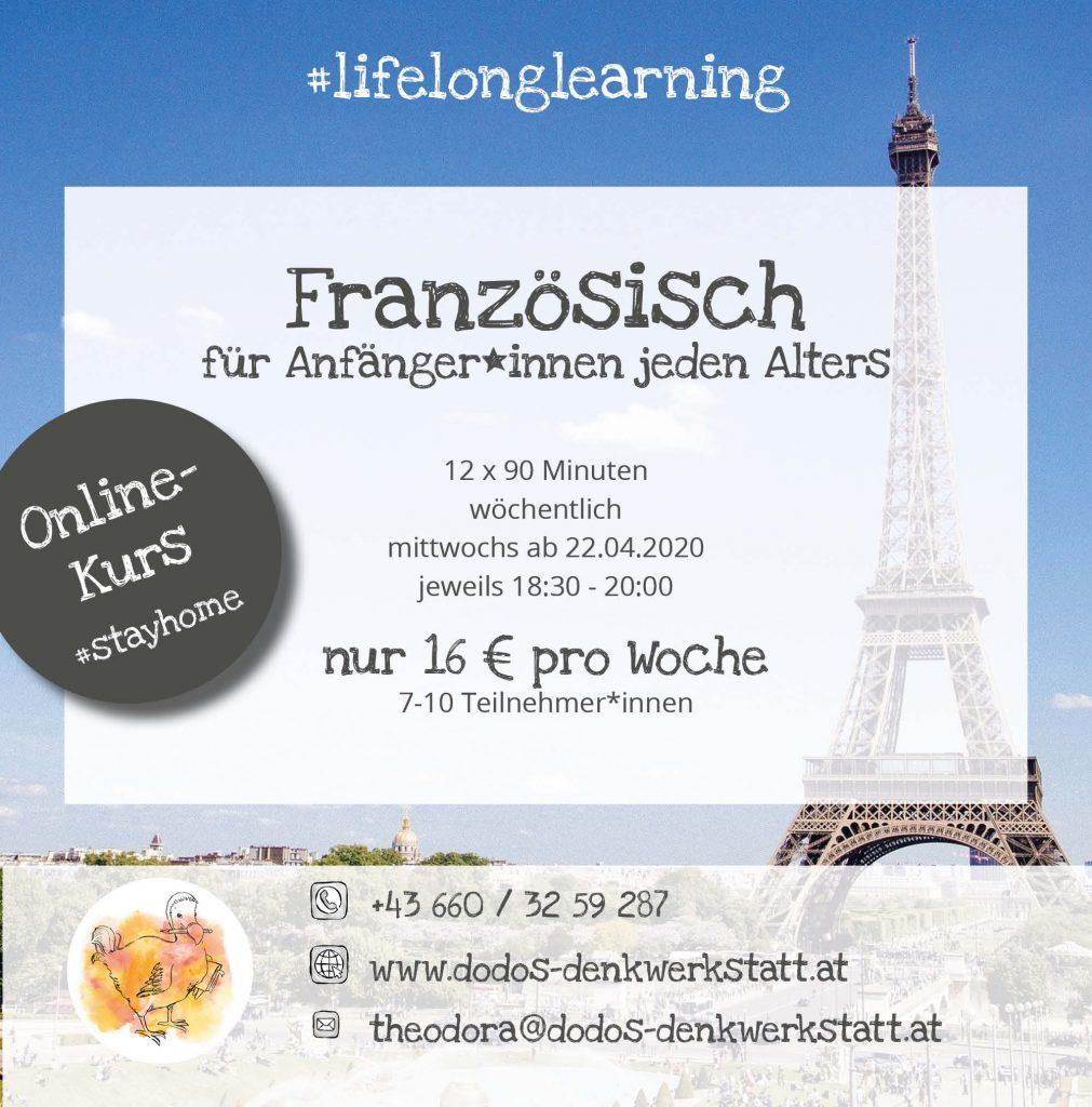Dodos Denkwerkstatt: Französischkurs für Anfänger*innen ab 22.04.2020